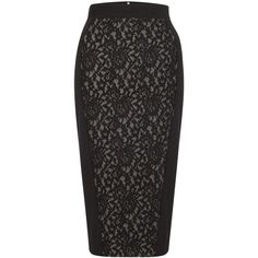 French Connection Lucia Lace Pencil Skirt ($60) ❤ liked on Polyvore