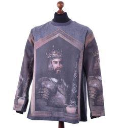 DOLCE & GABBANA RUNWAY Oversize Printed Sweatshirt Sweater Pullover Grey…