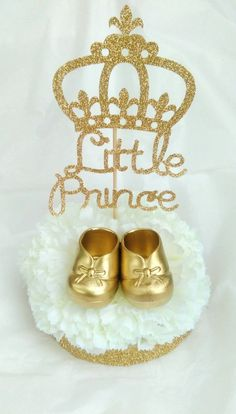 Little prince centerpieces first birthday by InspirationsByAlex