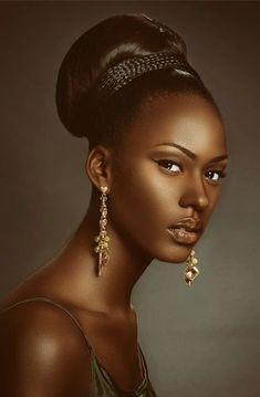 Black is beautiful Black Girl Art, Black Women Art, Black Girl Magic, Black Girls, African Beauty, African Women, My Black Is Beautiful, Beautiful Women, Beautiful Soul