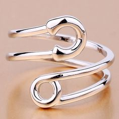 »Characteristic Pure Color Hollow Out Cuff Ring For Women«
