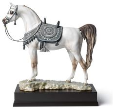 Lladro Arabian Pure Breed Glazed Figurine - Plus One Year Accidental Breakage Re contemporary-sculptures