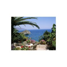 Mazzaro Beach, Taormina, Island of Sicily, Italy, Mediterranean... ($40) ❤ liked on Polyvore featuring home, home decor, wall art, photos, pictures, artists, photo poster, photo wall art, beach home accessories and beach home decor