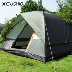 43fe2022ac9542 Three Person 200 200 130cm Double Layer Weather Resistant Outdoor Camping  Tent for Fishing