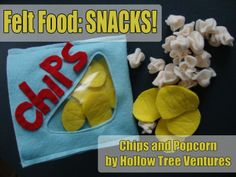 Easy tutorial for making the CUTEST felt popcorn and chips (with their own bag) you've ever seen!