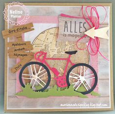 map bicycle bicycle Marianne Design bicycle racer for men masculine card . Boy Cards, Kids Cards, Marianne Design Cards, Bicycle Cards, Flower Market, Masculine Cards, Cardmaking, Birthday Cards, Paper Crafts