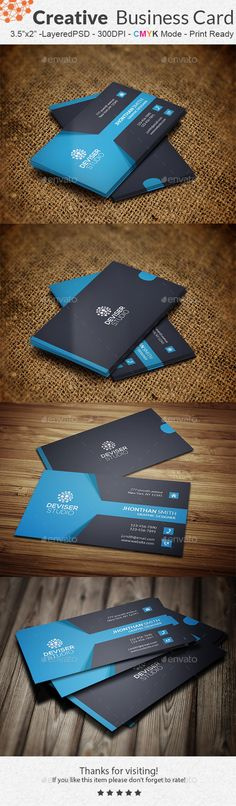 Creative Business Card Template #design Download: http://graphicriver.net/item/creative-business-card/11477320?ref=ksioks
