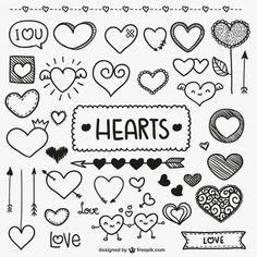 Cute heart bullet journal and planner doodles Sketch Note, Heart Doodle, Doodle Lettering, Doodle Fonts, Doodle Art Letters, Typography, Baby Boy Quilts, Doodle Drawings, Bullet Journal Inspiration