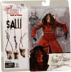 """Neca - Cult Classics Hall of Fame série 2 figurine Jigsaw Killer (Saw 3 by Neca. $15.99. Saw Jigsaw killer pig face version 7"""" figure.. Comes with puppet and tricycle.. Brand new and factory sealed.. From the film 'Saw 3' comes this Jigsaw Killer action figure as part of the 'Cult Classics - Hall of Fame' series by NECA.This fully articulated figure stands approx. 7 inches tall and comes with accessories."""