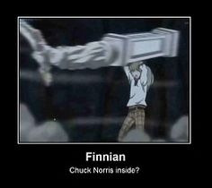 Finnian from Black Butler= Chuck Norris? I think so!