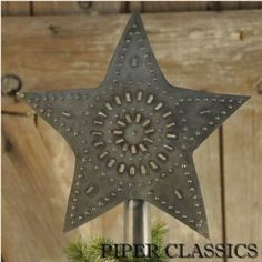 Punched Tin Star Tree Topper - Small: Piper Classics