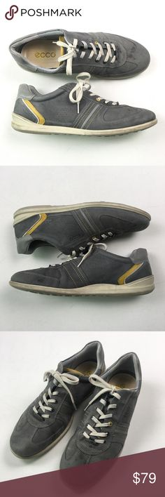 b8d4884c58c9 Ecco Mens Gray Low Top Sneaker 47 Mens 13 Pre owned excellent condition mens  shoes.