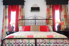 Hometalk :: Mom's Master (Decorating with Quilts) Using a quit for drapes great idea and keep out the cold in winter.