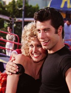 Olivia Newton-John and John Travolta in 'Grease' - 1978