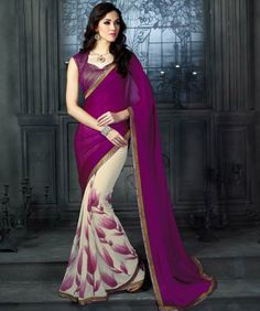 Exquisite Georgette Saree with Blouse - just lovely