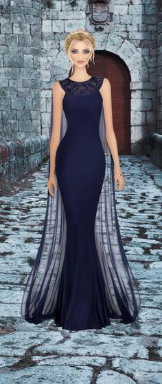 Queen of Rivendale Moda Fashion, Covet Fashion, Fashion Art, Fashion Show, Fashion Looks, Lovely Dresses, Elegant Dresses, Formal Dresses, Dress Sketches
