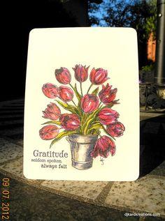 Tulip Gratitude in Prismacolor