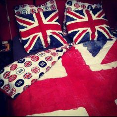 British flag. Bed set. Totally want
