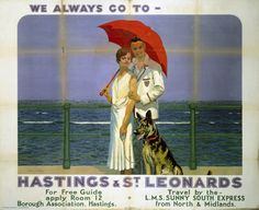 'Hastings and St Leonards', SR poster, 1933. Southern Railway poster. Artwork by Charles Pears.