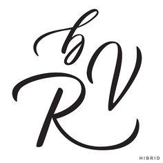 Handlettering glyphs by Courtney Shelton / HIBRID | #handlettering #calligraphy #brushlettering #typography