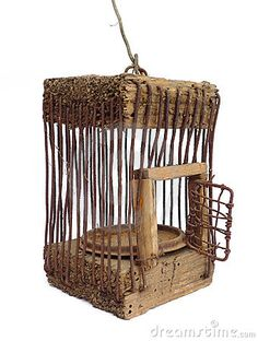 I love old cages but never leave the door closed....hate the feeling of a trapped bird.