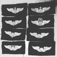 Air Force Wings Military Lot Cloth Patch Aviation Paratrooper Pilot Army US ASAF  | eBay