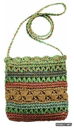 Cappelli Teens and Womens Multi Color Crochet Toyo Crossbody Bag - Cross Body - Bags and Purses