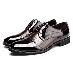 Черный+/+Коричневый+Мужская+обувь+Для+офиса+/+На+каждый+день+/+Для+вечеринки+/+ужина+Лакированная+кожа+Оксфорды+–+RUB+p.+1+624,99