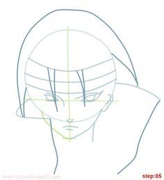 how to draw itachi uchiha