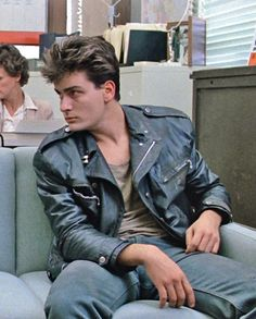 Charlie Sheen in Ferris Bueller´s Day Off -- < Feb. 25, 2015 -- C.S. on 'The Goldbergs' ~ 30 years later. Thanks to this pic, my young kids now get the joke. >