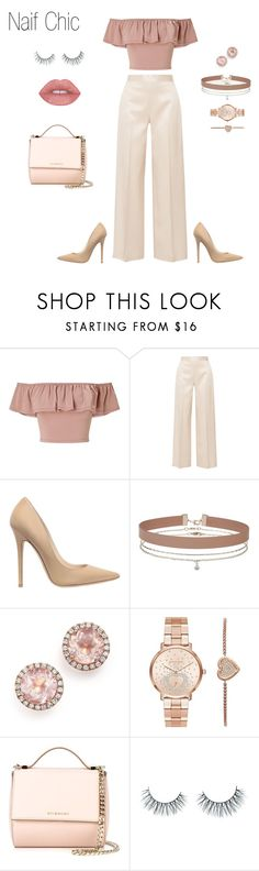 """Naif Chic II"" by arimacias on Polyvore featuring moda, Miss Selfridge, The Row, Jimmy Choo, Dana Rebecca Designs, Michael Kors, Givenchy, Unicorn Lashes, WhatToWear y WomenLook"