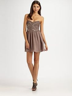 In LOVE with this dress!  Parker  Strapless Beaded Dress  $330.00