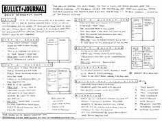 Bullet Journal Reference Guide by Kim (Tiny Ray of Sunshine)