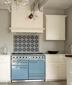 Lacquered Life | Wymeswold, Leicestershire kitchen by deVOL (blue Falcon stove!)
