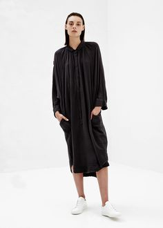 Raquel Allegra Poet Dress (Black)
