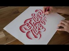 Hand Lettering COMPILATION - February 2018 by Stefan Kunz - YouTube