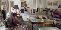 Lujosas habitaciones, Suite real del hotel Plaza Athenee en París