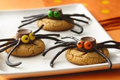 Peanut Butter Spider Cookies — Recipe from Tablespoon