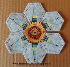Faeries and Fibres: Tutorial: Making a hexagon star my way - part 2