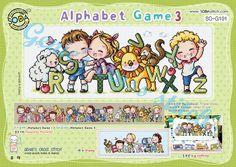 Gioco alfabeto 3 R a Z con animali e bambini cross stitch chart sodastitch…