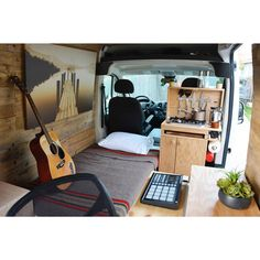 It's the first day of my clients new life. With the bed pulled out, and the morning coffee brewing the space is quite cozy and spacious. I would say even more spacious than my campers #MotelCamper and #InstanInn. This is the 2014 Ram Promaster with only 15K miles on it and built to last. Something like this new would run you about 20K + for the van and another 10K for materials, solar and labor. If your looking for a van conversion of your own, you should consider us. #homeishowyoubuildit…