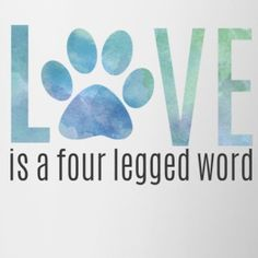 Love is a Four Legged Word (feeds 7 shelter dogs)