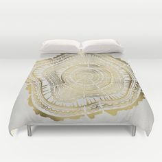 Gold+Tree+Rings+Duvet+Cover+by+Cat+Coquillette+-+$99.00