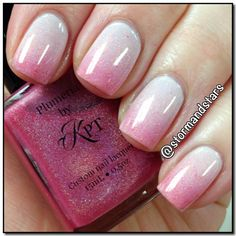 Plumeria by Polished by KPT is a stunning thermal pink to clear with a holo shimmer.  @Storm Wright