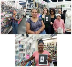 Here we have shoppers and several of Lady Jane Craft Center Bead Shop employees.
