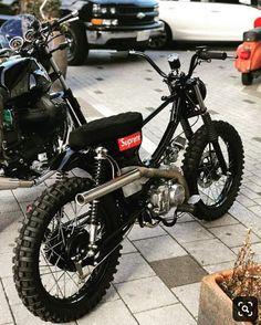 Next project - Today Pin Cafe Racer Honda, Cafe Racer Bikes, Motorcycle Design, Motorcycle Bike, Motos Retro, Mini Motorbike, Custom Moped, Motorised Bike, Bike Engine