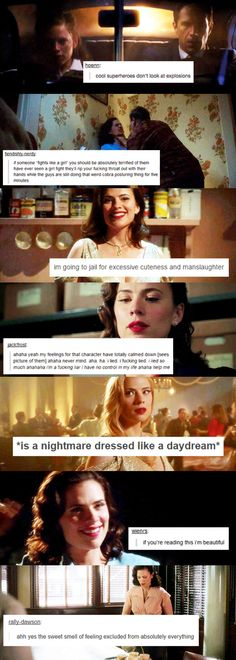 Peggy Carter textposts: I'm going to jail for excessive cuteness and manslaughter.
