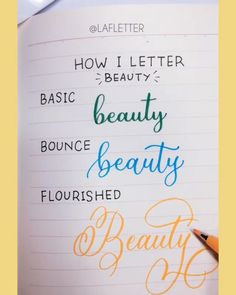 Calligraphy Quotes Doodles, Calligraphy Fonts Alphabet, Cursive Alphabet, Hand Lettering Fonts, Creative Lettering, Lettering Tutorial, Lettering Styles, Handwriting Fonts, Brush Lettering Quotes