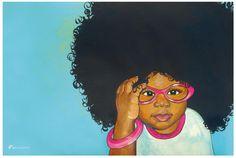 Focsi (fox-cee) art from Miya's Hair Day http://myfocsi.com/miyas-hair-day.html.  #NaturalHair #NaturalHairArt