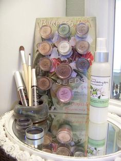 Beautiful display of Sheer Minerals Makeup by Lemongrass consultant Michelle Rayburn.